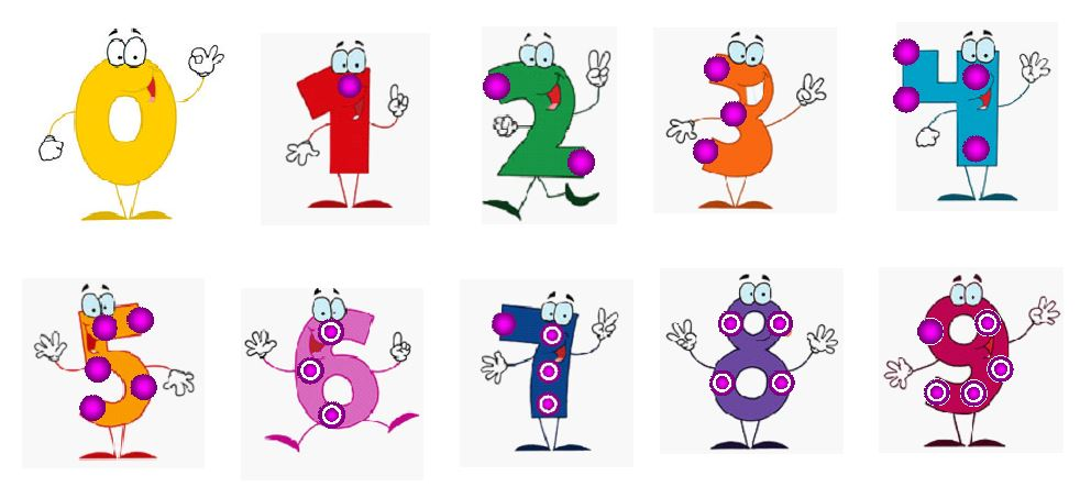 Touch Math Numbers Printable Education printable downloads